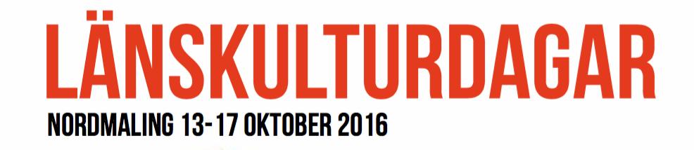 Länskulturdagarna 2016
