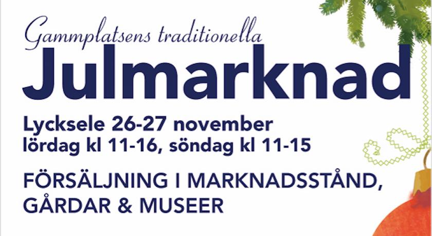 Julmarknad, Gammplatsen Lycksele