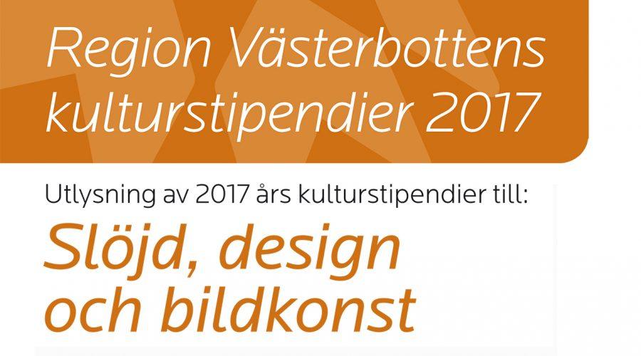 Region Västerbottens kulturstipendier 2017
