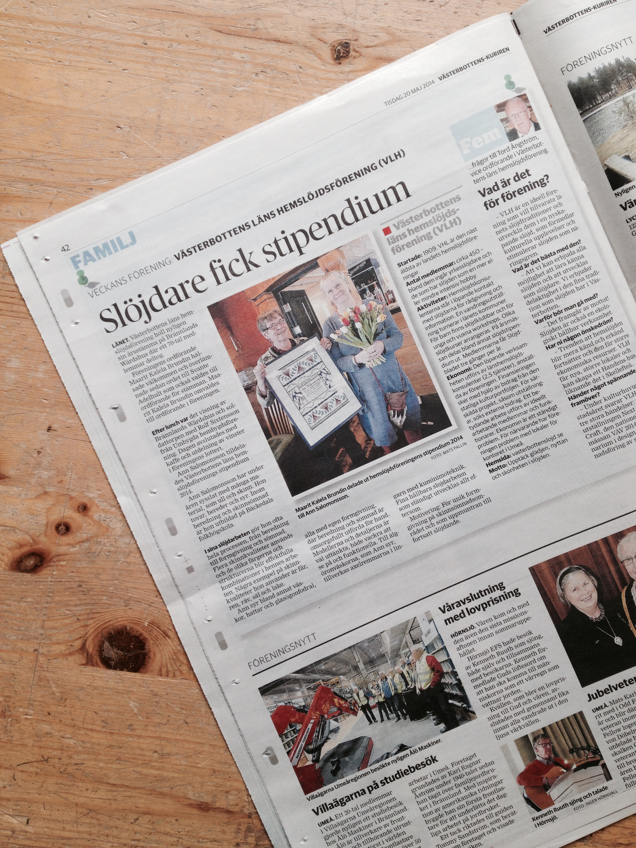 Ann Salomonsson och VLH i VK