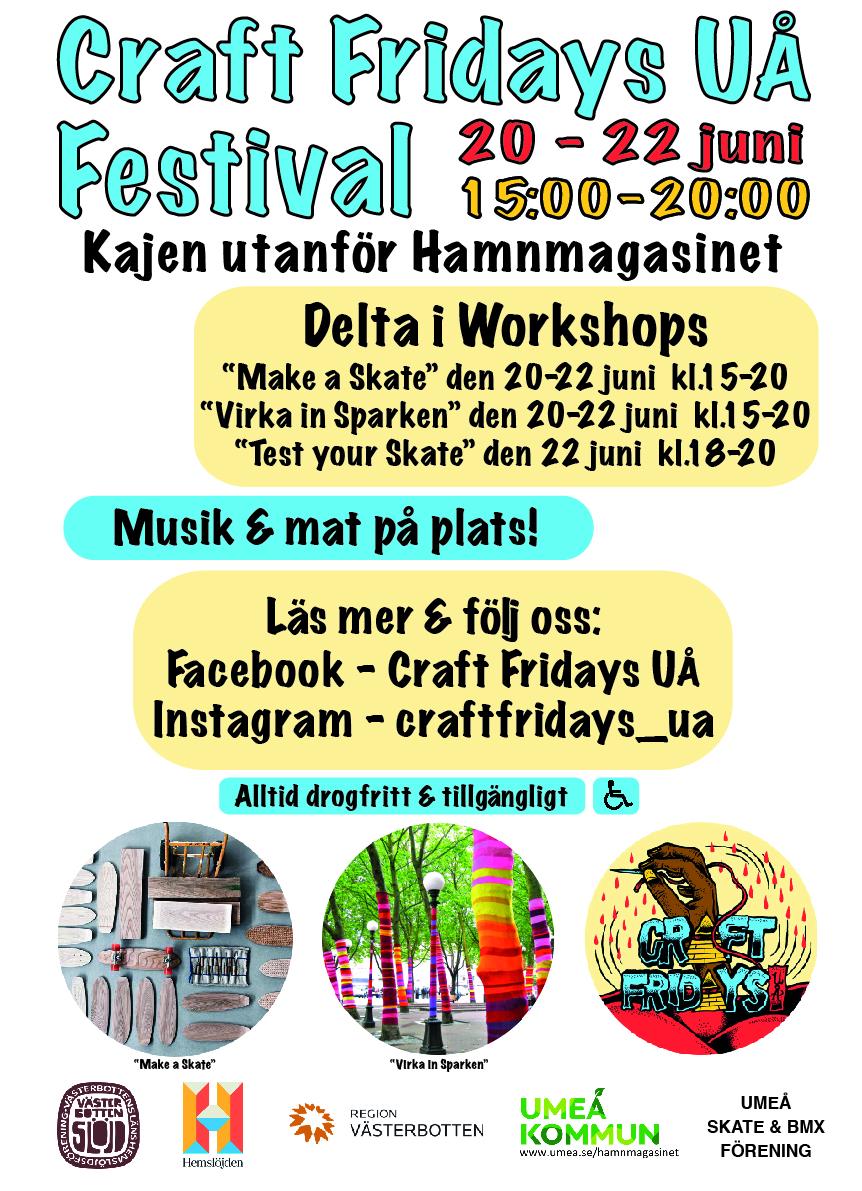 Craft Fridays UÅ Festival 20-22 juni